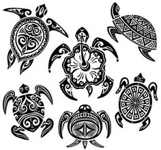 Turtle Hibiscus Tattoo | Turtle Car Stickers - Free Download Tattoo #28942…