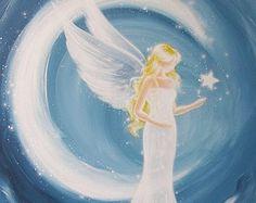 Arte abstracto angel Sueños cósmicos de la foto por HenriettesART