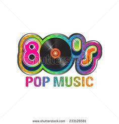 80s pop music logo. Vector design