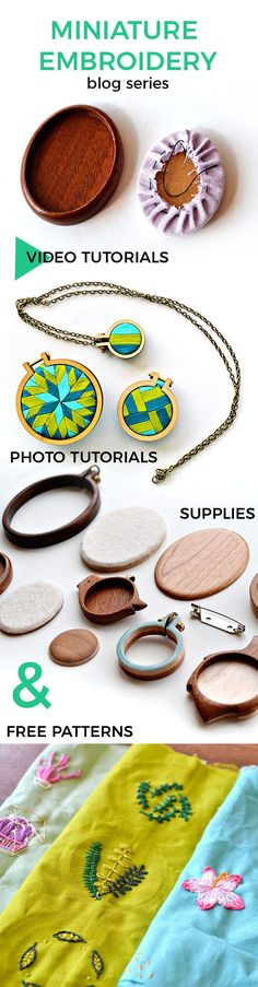 Miniature embroidery month – learn all about the tiny embroidery #diynecklace