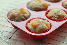 Awesome Peach And Cinnamon Muffins