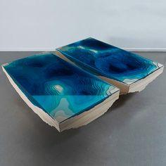 Ocean inspired furniture art // the Kraken Abyss Table - Duffy London Kraken, Furniture Board, Furniture Design, Metal Art Decor, Handmade Table, Resin Table, Design Blog, Duffy, Industrial Design