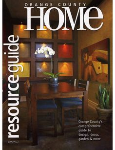 Artist Village Loft Design Studio   Featured On Cover Of Orange County Home  Resource Guide Designed By Orange County Interior Designer Chris Givan Of  ...