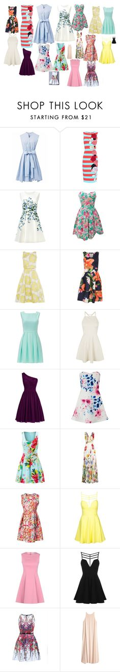 """""""Spring on an island"""" by angleighgab on Polyvore featuring Chicwish, Antonio Marras, ERIN Erin Fetherston, Pilot, Kate Spade, Topshop, Lipsy, Trina Turk, Joelle and RED Valentino"""