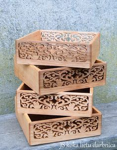 Victorian scroll saw boxes