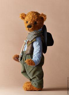 Teddy Bears handmade.  Cowboy.  Yulia Bandurka.  Shop Online Fair Masters.  Cowboy, glass eyes
