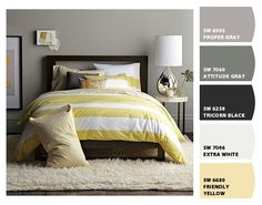 pretty yellow and gray. Made with Chip It! by @SherwinWilliams