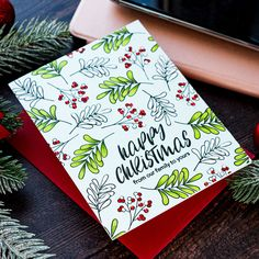 """During my latest trip to the UK, I had an interesting and very educational discussion with some of the local crafters about the use of the phrase """"Happy Christmas"""" versus """"Merry C… Christmas Cards Handmade Kids, Stamped Christmas Cards, Christmas Card Crafts, Merry Christmas Card, Christmas Cards To Make, Christmas Greeting Cards, Christmas Greetings, Holiday Cards, Chrismas Cards"""