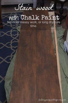Staining with Paint