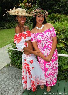 This Pink Island Dress! Island Wear, Island Outfit, Pink Island, Island Girl, Hawaiian Wear, Hawaiian Outfits, Hawaiian Costumes, Hawaiian Dresses, Vintage Hawaiian