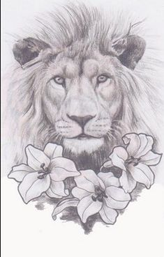 This lion, only with a crown and without the flowers.