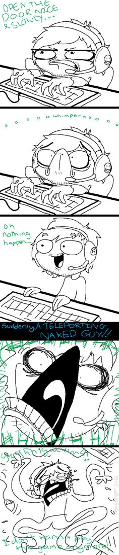 ah the joys of watching PewDiePie play Amnesia...