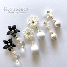 フラワーアンティークピアス   Mooi accessory