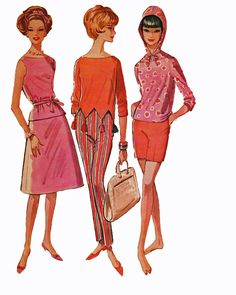 1960's McCall's 6206 vintage sewing pattern.......oh my word, that top in the middle..............*swoon*.....gotta try..:)