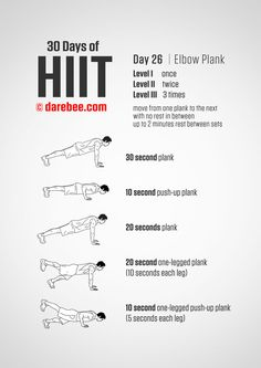 30 Days of HIIT is a visual no-equipment fitness program designed for higher burn in a shorter period of time. Hiit Workout At Home, Gym Workout Tips, At Home Workouts, Cardio Hiit, Workout Challenge, Hiit Program, Workout Programs, 30 Days Of Hiit, 30 Day Abs