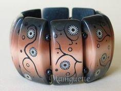 Bracelet | Fimo Maniguette.  Polymer clay