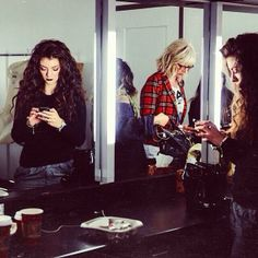 Lorde in her dressing room at The Grammy Nominations // Zoe Rain