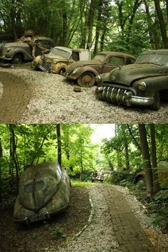 One man destroyed dozens of classic cars just to create this park...