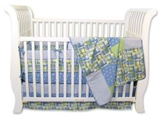Trend Lab Nantucket Blue 4 Piece Crib Bedding Set - Best Price