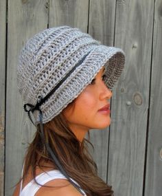 Womens Hat FLAPPER Cloche Hat Bonnet Hat Light Gray by SWAKCouture