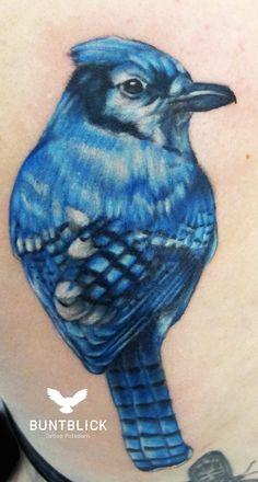 Blue Bird Tattoo (blauer Vogel) - Buntblick Tattoo Potsdam (http://www.buntblick-tattoo.de/)