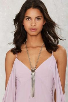 Liquid Assets Fringe Necklace - Jewelry