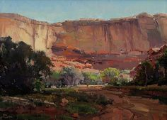 Cliff Shadows, Canyon de Chelly by Kathryn Stats - Greenhouse Gallery of Fine Art
