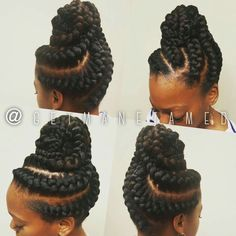 Goddess Braids with Weave Hairstyles Making an immense sprinkle during the the goddess plaits are back and beyond anyone's imagination., Braids # goddess Braids with weave 35 Goddess Braids with Weave Hairstyles in 2019 Box Braids Hairstyles, African Hairstyles, Black Hairstyles, Goddess Hairstyles, Teenage Hairstyles, Hairstyles Videos, Hairstyles Pictures, Protective Hairstyles, Cornrows Updo