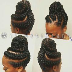 Goddess braids updo. Ig:@getmanetamed