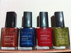 L-R: Lucky Penny, Cosmic Blue, Ruby Slipper, Absinthe