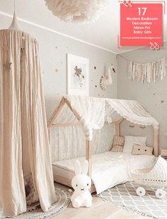 ▷ ideas for baby girl room - Kinderzimmer ♡ Wohnklamotte - BabyZimmer İdeen Baby Bedroom, Baby Room Decor, Nursery Room, Bedroom Decor, Room Baby, Baby Rooms, Girl Nursery, Baby Playroom, Child Room