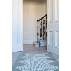 Geocentric Runner image Border Rugs, Navy Rug, Grey Rugs, Hand Knotted Rugs, Rug Runner, Nepal, Craftsman, Colours, Home
