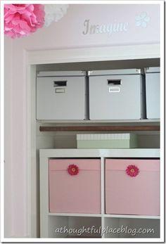 Organizing a little girl's closet