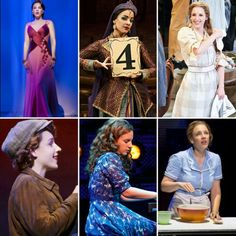 Jessie Mueller: Melinda Wells-On a Clear Day You Can See Forever, Miss Janet Conover/Helena Landless-The Mystery of Edwin Drood, Carrie Pipperidge-Carousel, Billie Bendix-Nice Work If You Can Get It, Carole King-Beautiful: The Carole King Musical, Jenna Hunterson-Waitress