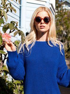 American Apparel Unisex Fisherman's Pullover - Also love the sunglasses.
