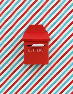 Tiny paper post box!