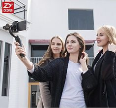 Zhiyun Smooth 4 Vlog Live 3 Axis Handheld Smartphone Gimbal Stabilizer for iPhone Xs Max X 8 Samsung & Action Camera Samsung S9, Samsung Galaxy, Sports Camera, Video Capture, Stability, Iphone 7 Plus, Smartphone, Smooth, Couple Photos