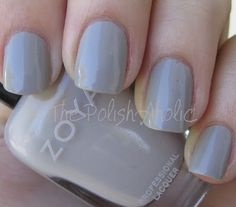 Zoya Dove (Not digging this photo, but I wanted to try and stick with the same blogger for the grey Zoyas.)