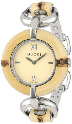 "Gucci Women's YA132404 ""Special Edition"" Bamboo and Stainless Steel Watch,"