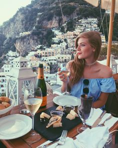 Perfect dinner in Positano Amalfi Coast, Italy. @syd.hoff