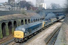 45103 Leicester 050487 BR034 Electric Locomotive, Diesel Locomotive, Double Header, Train Room, British Rail, Electric Train, Train Engines, Diesel Engine, Leicester