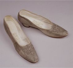 Shoes worn by Empress Alexandra Romanov on the day of her Coronation