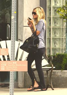 Side zip jeans via Ashley Olsen.