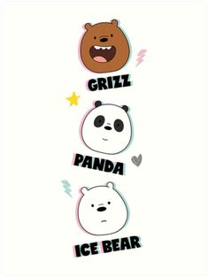 'Bare Bears Colorful Pattern' Art Print by Summermint Cartoon Wallpaper Iphone, Cute Anime Wallpaper, Bear Wallpaper, Disney Wallpaper, We Bare Bears Wallpapers, Cute Wallpapers, Wallpaper Fofos, Sheep Crafts, Minimalist Drawing
