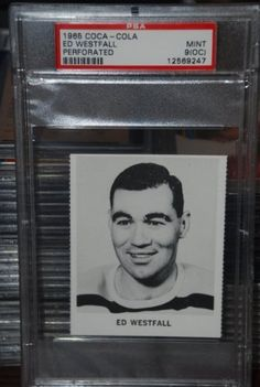 PSA 9 OC 1965 Coca Cola Ed Westfall Boston Bruins Hockey Card Sold And Photographed By Thegoodoldboys by Coca Cola. $18.00. Rare hockey card from a rare set! Something a real collector should have in his or her collection.       ***For anyone that wants to buy more than 1 from me, Thegoodoldboys***  Amazon won't let me fix the shipping, so what has to be done is when you buy multiple items from me, you will get charged shipping for each one.  What I can do is then...