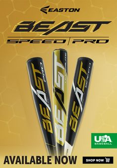 Prepare for love at first swing with this line of Easton baseball bats. New from Easton for the Beast Speed is constructed from an aircraft-grade aluminum alloy that helps provide lightness and strength. Espn Baseball, Baseball Dugout, Marlins Baseball, Baseball Scoreboard, Baseball Tournament, Baseball Scores, Baseball Helmet, Baseball Tips, Baseball Pitching