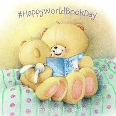 "'You can't buy happiness but you can buy books"" Friend Cartoon, Bear Cartoon, Pregnancy Scrapbook, Blue Nose Friends, Baby Painting, Bear Illustration, Tatty Teddy, Love Bear, Cute Teddy Bears"