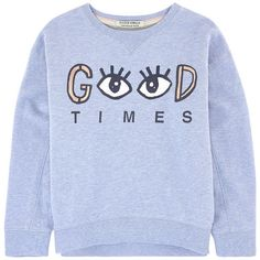 Cotton fleece    Crew neck Long sleeves Ribbed knit trims Fancy print on the…