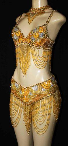 gold/yellow  dance costume
