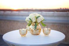 Gold Mercury-Glass Cocktail-Hour Decor